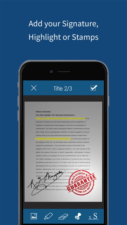 Scan & Organize - Multi Page Document PDF Scanner screenshot-3