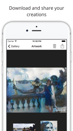 Lucid turn your pictures into art on the App Store