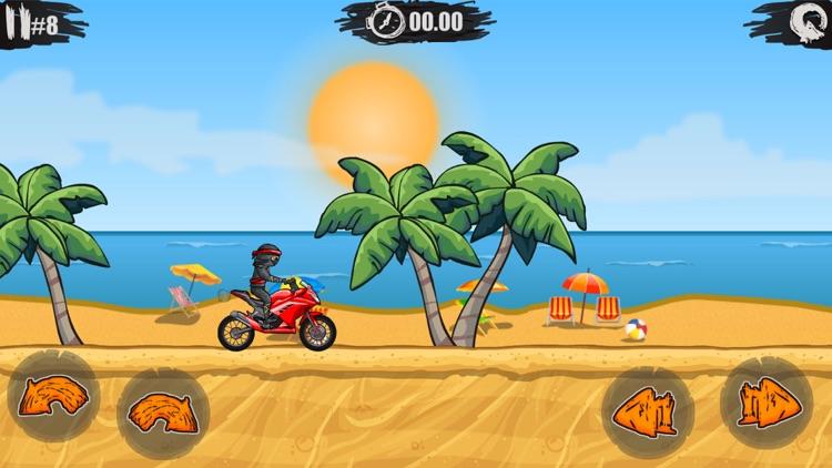 疯狂特技摩托 - 真实飞车模拟驾驶&孤胆赛车游戏(单机+免费)