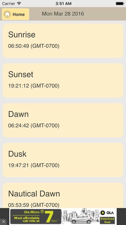 Sunrise Sunset Calc screenshot-3