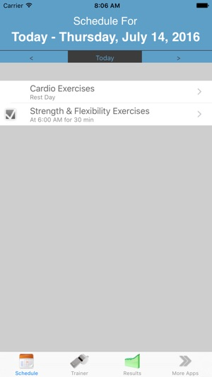 My Personal Trainer (w/ Reminders) Screenshot
