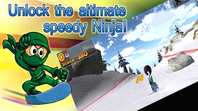 Super ninja snowboard 2016 : new free Snowboarding running & jumping game For Family Adult's & Boy's & Girl's & Kid's ninja Challenge