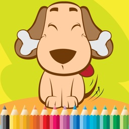 Dog Coloring Book For Kids: Drawing & Coloring page games free for learning skill