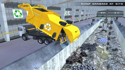 Real Garbage Truck Flying 3D Simulator – Driving Trash Trucker in City screenshot three