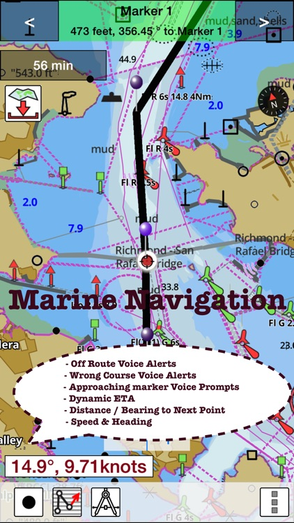 i-Boating: Malta, Cypress & S. Mediterranean Sea - Marine / Nautical Charts & Navigation Maps screenshot-2