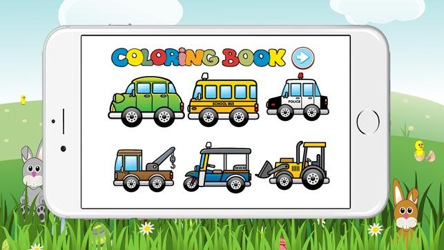 Cocuklar Oyun Icin Ucretsiz Araba Boyama Kitabi App Store Da
