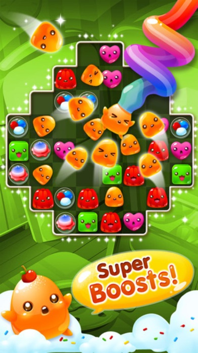 Jelly Blast - 3 match puzzle sweets crush game screenshot four