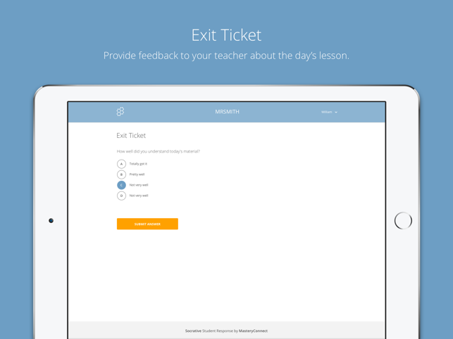 Socrative Student Screenshot