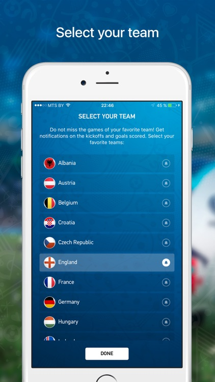 Euro Live — Scores & News for 2016 European Soccer Championship screenshot-1