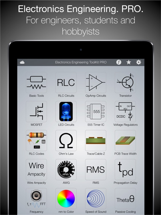 Electronics Engineering ToolKit PRO for iPad screenshot-0