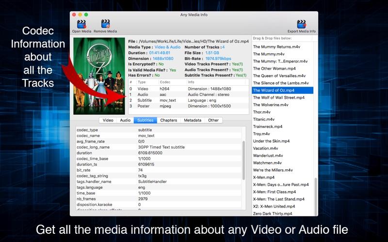 Any Media Info Screenshot