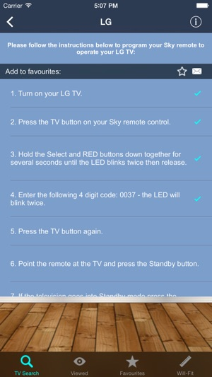 TV Remote Controller Codes on the App Store