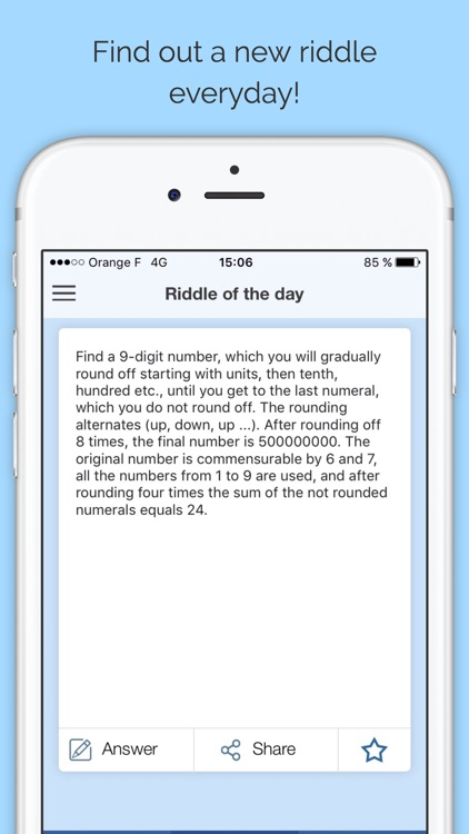 Riddles and brain challenges - Free