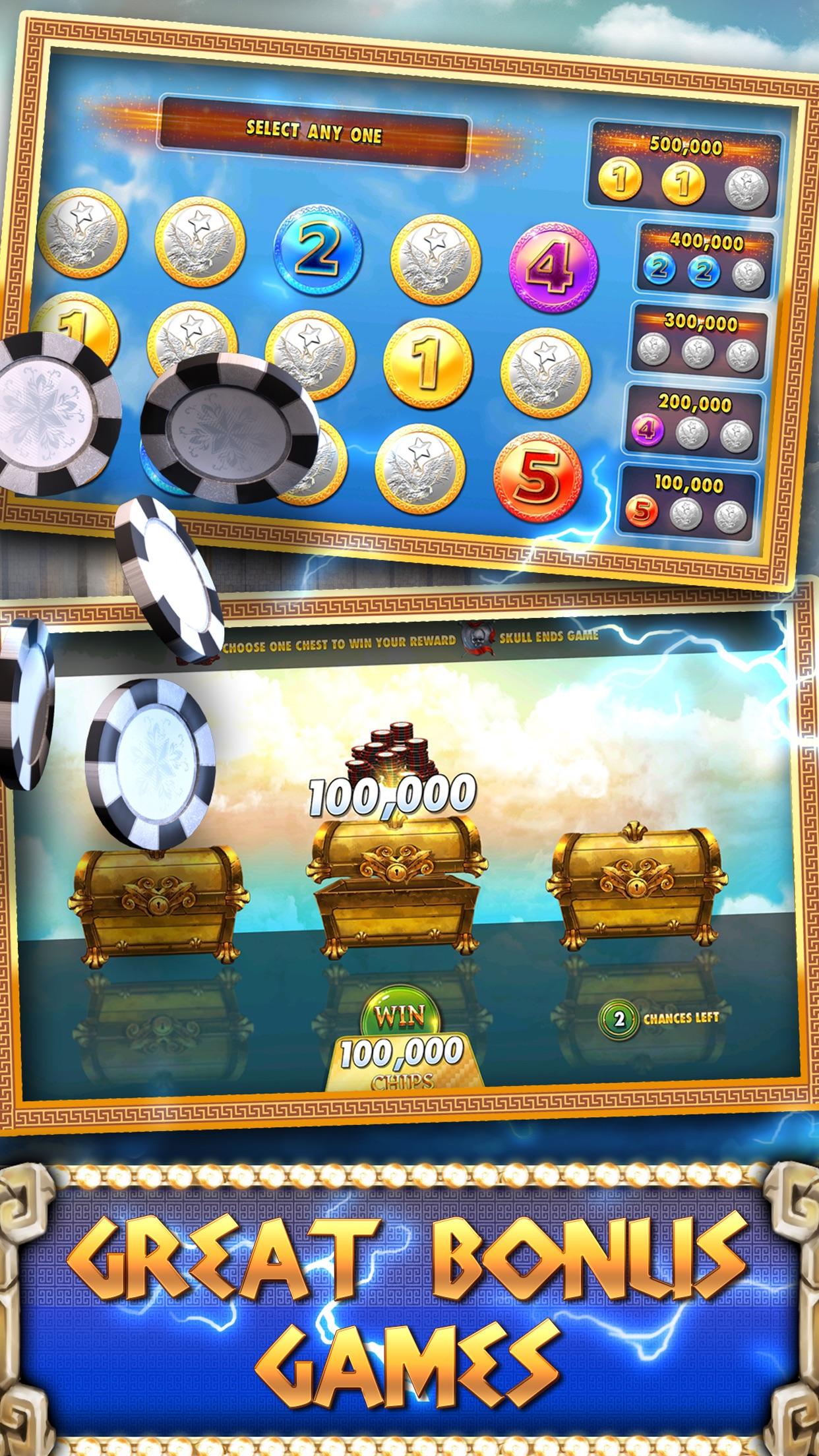 Slots Casino -  Gods Slot Machines Free Screenshot