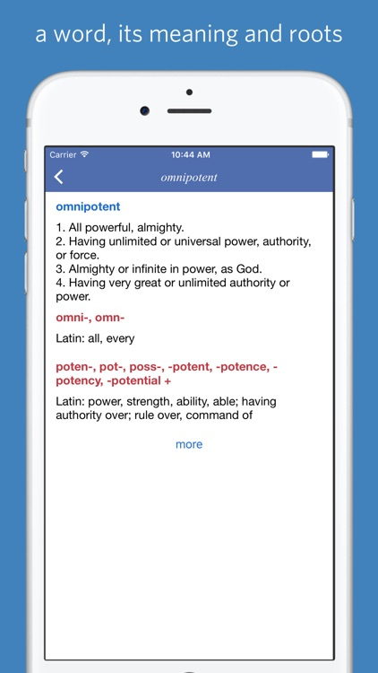 Classical Root Dictionary screenshot-3