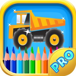 Coloring book of truck for children - Cars, Trucks and other vehicles