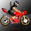 クレイジー忍者自転車レースの狂気 - 最高のロードレースアーケードゲーム