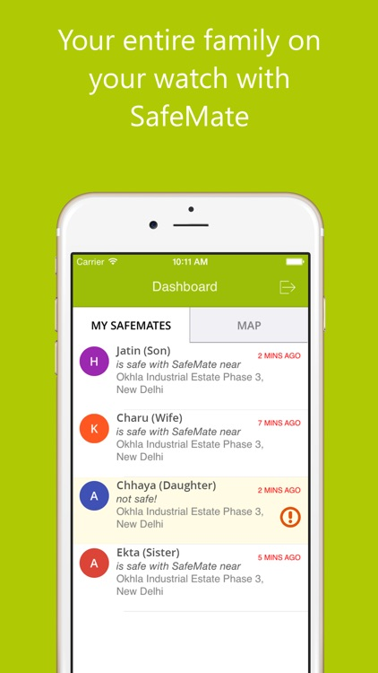 SafeMate: Real time location of your loved ones
