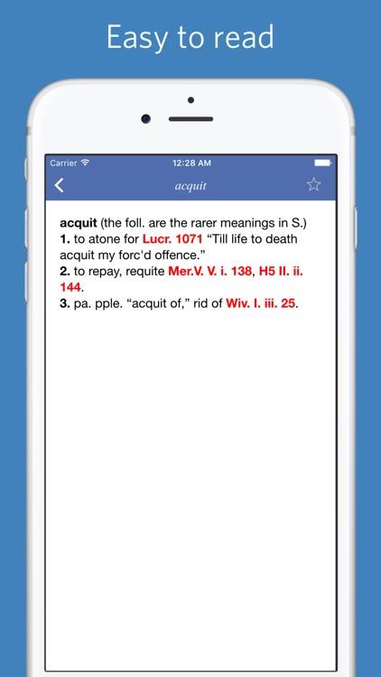 Shakespeare Glossary - Advanced Edition screenshot-3