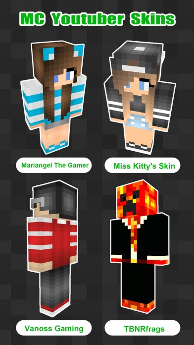 3D Youtuber Skins Collection - Pixel Texture Exporter for