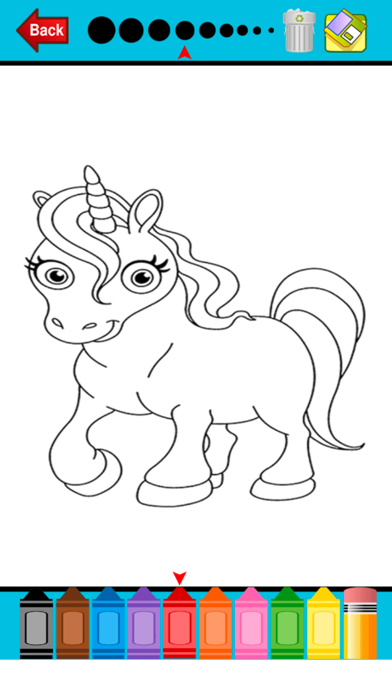 Pony Horse Coloring Book - Alphabets Drawing Pages and Painting Educational Learning skill Games For Kid & Toddler screenshot four