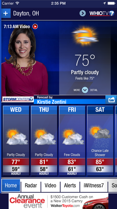 WHIO Weather Screenshot