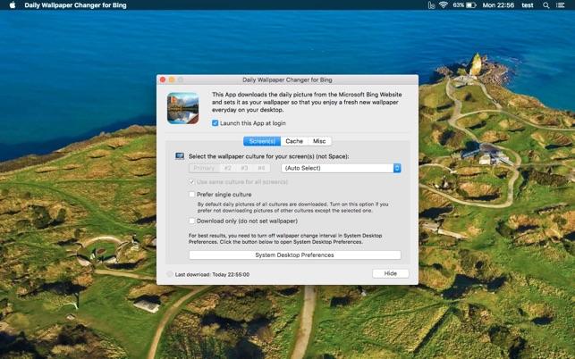 Sfondi bing per desktop
