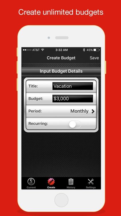 Budget Saved - Personal Finance and Money Management Mobile Bank Account Saving App screenshot-3