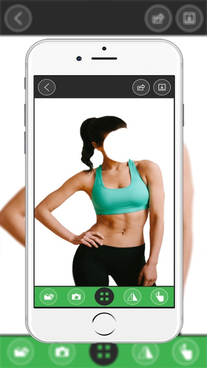 Fitness Girl  Body Photo montage App screenshot-0