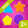 LittleOnes Toddler Puzzle Shapes 2, Educational Puzzle Games for Babies, Toddlers & Preschool Kids. Sorting Shapes and Colors - Full Version