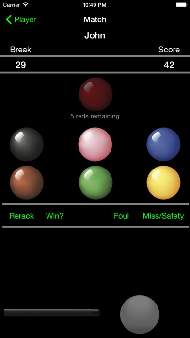 Break - Snooker Score Calculator Screenshot 2