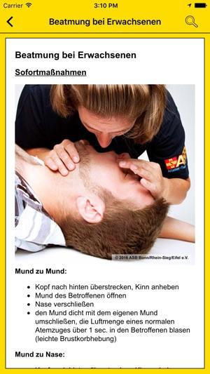 Notfall-App von Gelbe Seiten Screenshot