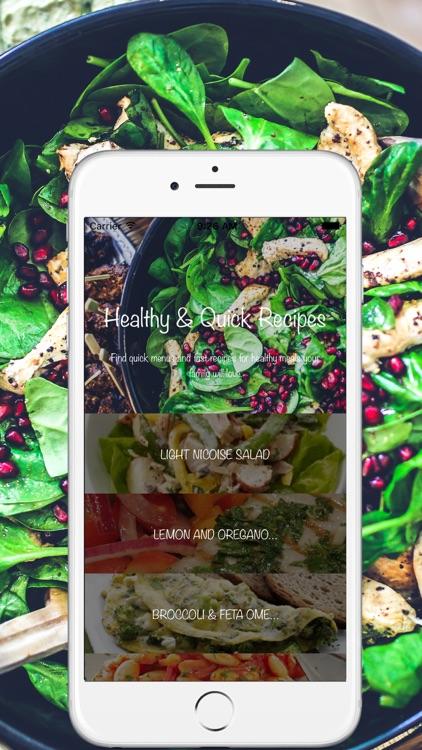 Healthy & Quick Recipes