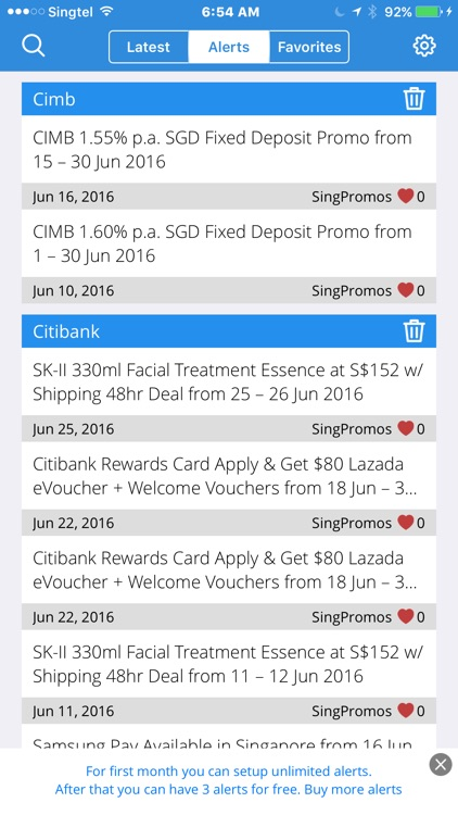 DEALert  - Singapore Discount, Promo, and Deals' Alert