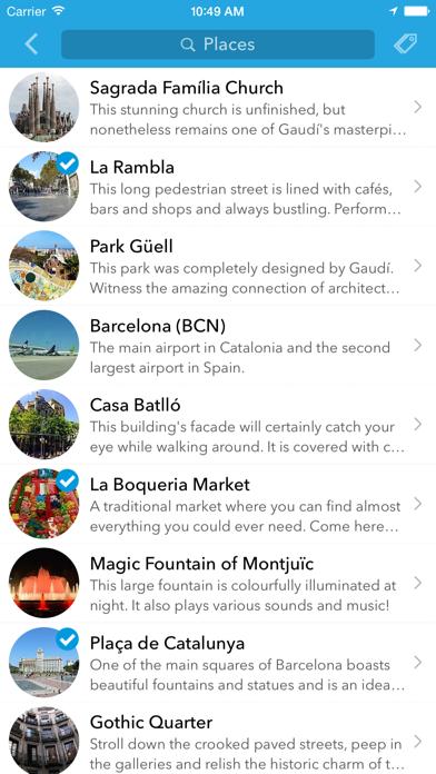 Screenshot of Trip planner Spagna & Portogallo di Tripomatic, guide turistiche e mappe offline3