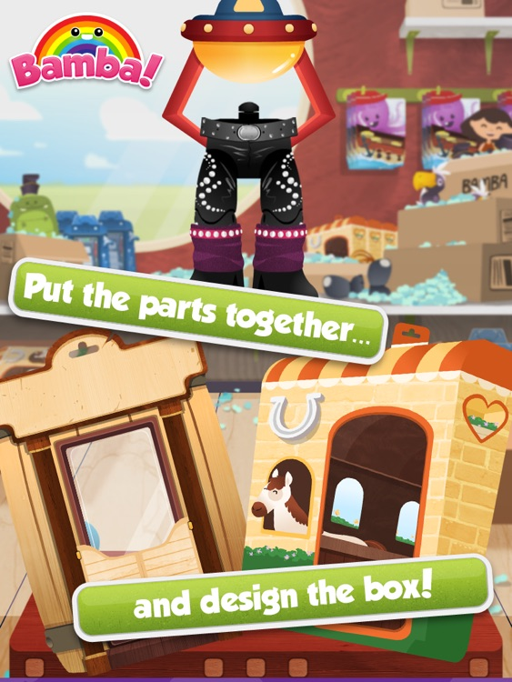 Bamba Toys (Free) - Kids make their very own action figure and dress them up screenshot-3