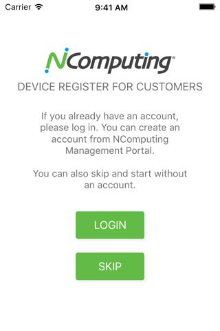 NComputing Device Register - náhled