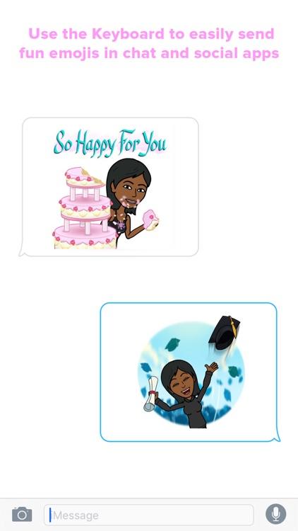 BlackEmoji - Emoji keyboard for cute Black girls screenshot-4