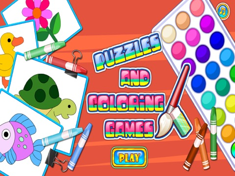 Puzzles And Coloring Games - For Kids Learning Painting and Animals | App  Price Drops