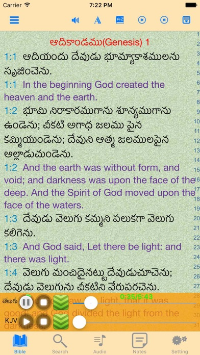 Telugu-English Indian Audio Holy Bible | App Price Drops