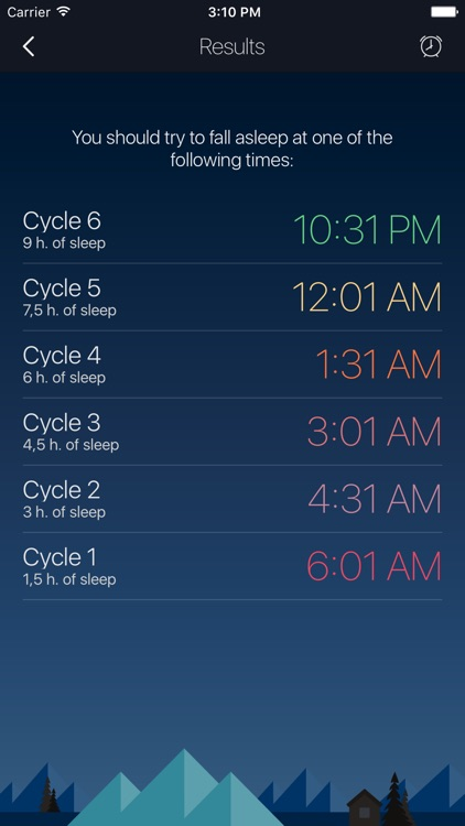 Sleep Timer - smart alarm and bedtime calculator for better sleep
