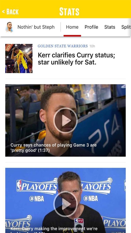 App for Stephen Curry