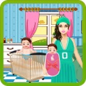 Newborn Twins Baby & Mommy Care - Play free kids game icon