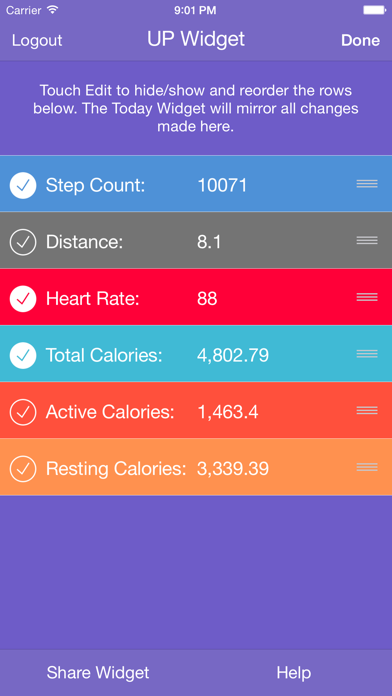 Fit Widget for Jawbone UP - Resting Heart Rate for UP3 & Higherのおすすめ画像2