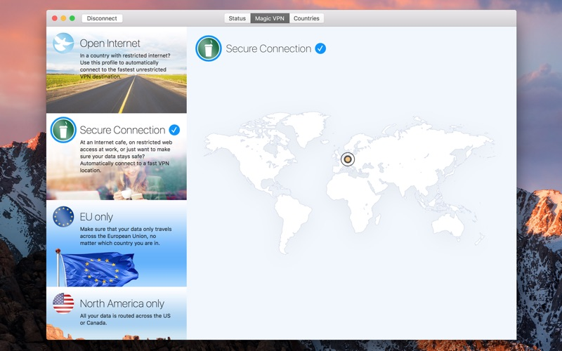VPN Tracker World Connect Screenshot