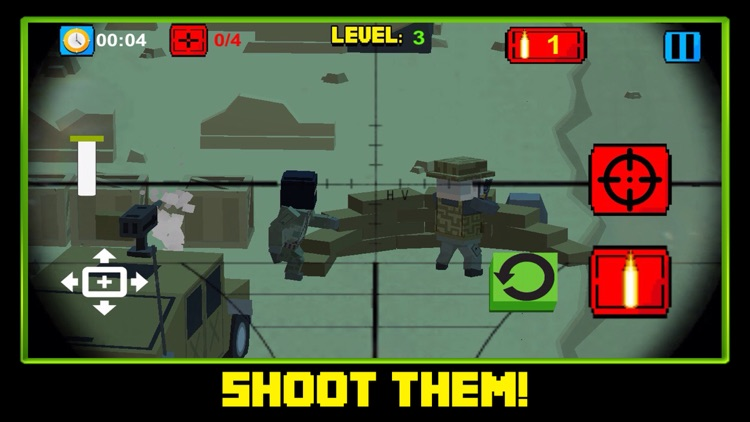 Block Battles City Crime Defense : Pixel war Gun-Craft Sniper Shooting Games screenshot-4