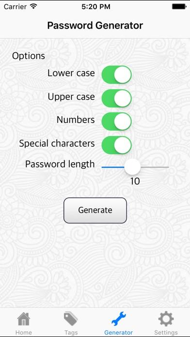 Password Cube iPhone