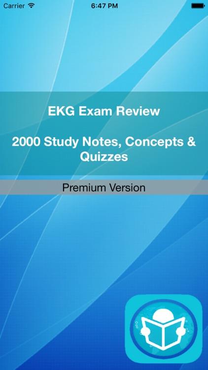 EKG Exam Review : 2000 Terms & Quizzes