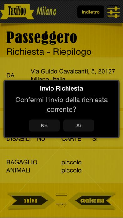 Screenshot of TaxiYoo Milano1