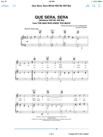 Que Sera, Sera (What Will Be Will Be) Sheet Music by Doris Day on ...